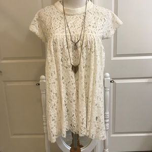 Urban outfitters medium floral lace boho tunic top